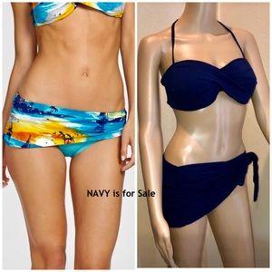 SZL-**NAVY** Tommy Bahama Skirted Bikini